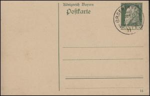 Bayern P 87I/01 Luitpold 5 Pf. DV 11: Stempel GRÖNENBACH 11.11.11 Vor 11-12