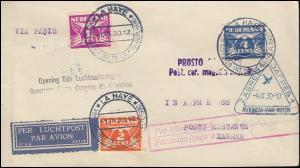 Sonderflug 5. Luftfahrtkongress Paris-Zagreb Bf. passender SSt LA HAYE 1.9.1930