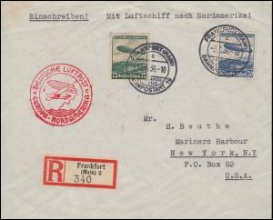Deutsche Luftpost Europa-Nordamerika R-Bf 606-607 Zeppelin-Satz FRANKFURT 3.5.36