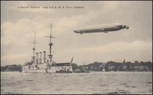 Feldpost BS Kaiserliche Marine SMS Derfflinger auf AK Luftschiff Victoria Luise