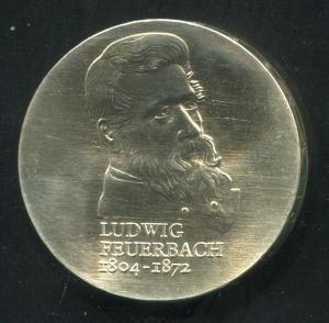 Gedenkmünze Ludwig Feuerbach 10 Mark von 1979, vorzügliche Erhaltung
