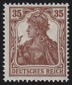 103b Germania 35 Pf seltenere Farbe ** geprüft