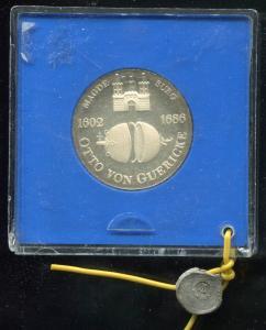 DDR Gedenkmünze 10 Mark von Guericke 1977, Spiegelglanz PP in verplombter Kapsel