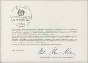 MinKa 09/1984 Europa: CEPT