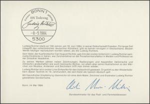 MinKa 11/1984 Ludwig Richter, Maler, Zeichner