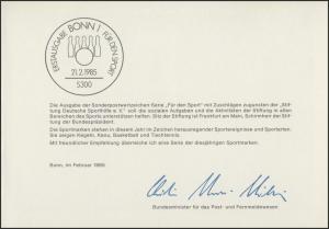 MinKa 05/1985 Sporthilfe: Keglerbund, Wildwasserrennsport