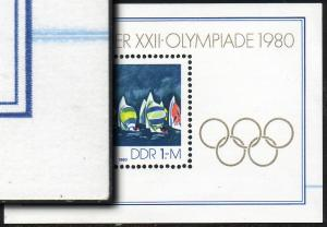Block 60 Olympiade, Farbverschmierung Farbe Blau **