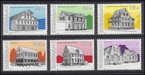 Suriname 1365-1370 Gebäude & Architektur 1991, 6 Marken, Satz postfrisch **