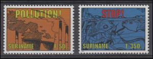 Suriname 1475-1476 Umweltschutz & Meeresschutz 1994, 2 Werte, Satz postfrisch **