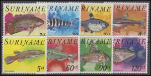 Suriname: Fische 1978, 8 Werte, Satz **