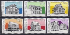 Suriname 1365-1370 Gebäude & Architektur 1991, 6 Werte, Satz postfrisch **