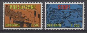 Suriname 1475-1476 Umweltschutz & Meeresschutz 1994, 2 Werte, Satz **