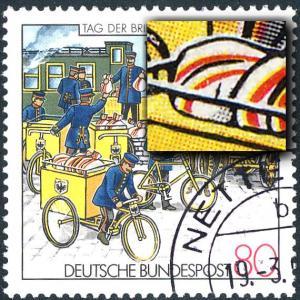 1337I Tag der Briefmarke - mit PLF I Strich auf dem Geländer, F.17, gestempelt