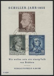 Bl.12XII Schiller-Jahr 1955 mit PLF IV, SSt Weimar