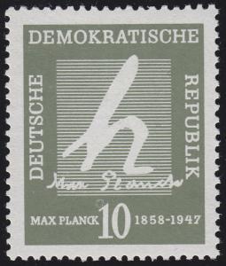 626 Max Planck 10 Pf. - starker Putzen über der 1 der Wertangabe, **