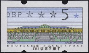 2.1 ATM 5 Pfennig - mit Aufdruck MUSTER, **