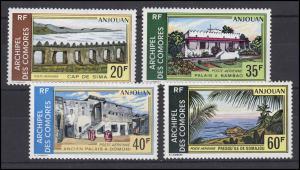 Komoren: Landschaften / Landscapes von Anjouan 1972, 4 Werte, Satz **
