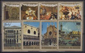 Burundi: UNESCO - Rettet Venedig Gemälde und Ansichten 1971, 8 Werte, Satz O