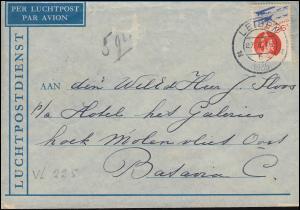 Luftpost NL-Niederl.-Indien Brief EF 241 von LEIDEN 27.2.1935 nach BATAVIA 8.3.
