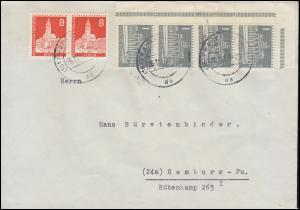 Berliner Stadtbilder 187 als Paar + 140x als Eckstreifen Bf. FRANKFURT 26.11.59