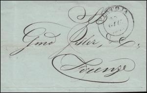 Italien Vorphilatelie Faltbrief PISTOIA 15.6.1846 nach FIRENZE / FLORENZ 16.6.46