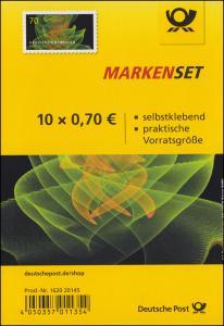 FB 72b Astrophysik Gravitationswellen **, Folienblatt mit 10x3356, Nr. 162020145