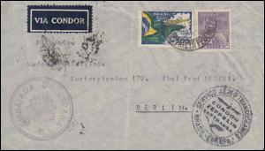 Flugpost Condor-Zeppelin-Lufthansa Spanisches Konsulat in Brasilien 20.2.35