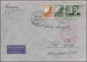 Deutsche Luftpost Europa-Südamerika Lp-Brief KASSEL 15.9.37 nach Brasilien