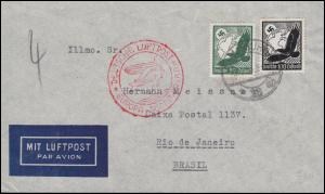 Deutsche Luftpost Europa-Südamerika Lp-Brief SSt HAMBURG 16.12.36 nach Brasilien