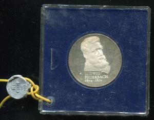 DDR Gedenkmünze 10 Mark Feuerbach 1979, Spiegelglanz PP in verplombter Kapsel