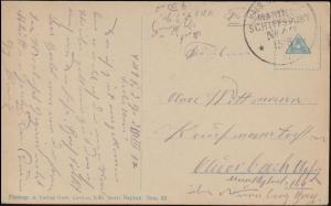 DEUTSCHE MARINE-SCHIFFSPOST No 49 - 15.8.1917 SMS Friedrich der Große auf AK