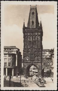 Böhmen und Mähren Ansichtskarte Prag - Pulverturm, PRAG / PRAHA 7.1.1943