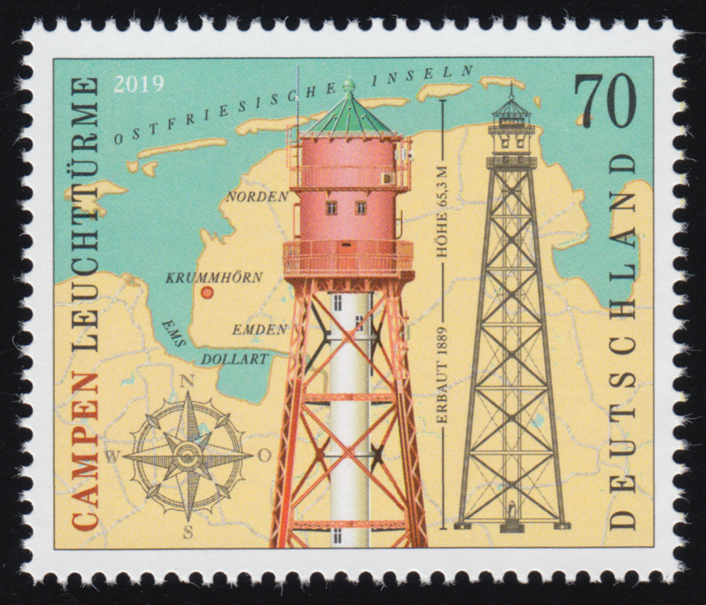3465 Leuchtturm: Campen ** postfrisch 0