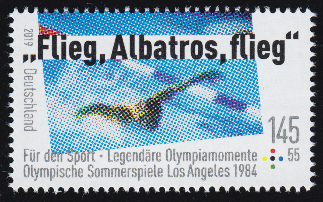3462 Sporthilfe 145 Cent: Olympia Los Angeles 1984 - Schwimmen, ** 0