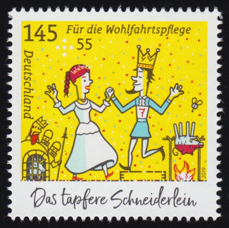 3440 Grimms Märchen: Das tapfere Schneiderlein 145 Cent, ** 0