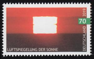 3441 Himmelsereignisse: Luftspiegelung der Sonne, nassklebend, **