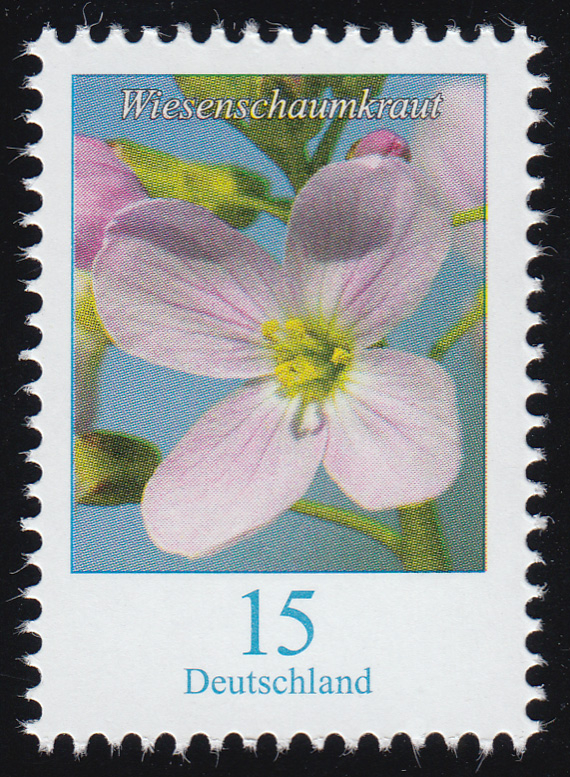3424 Blume Wiesenschaumkraut 15 Cent, nassklebend, ** 0