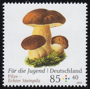 3408 Für die Jugend - Pilze: Echter Steinpilz 85 Cent, **