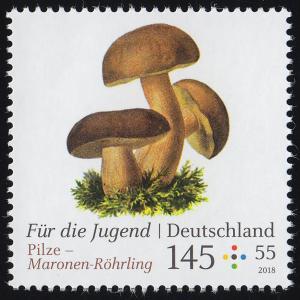3409 Für die Jugend - Pilze: Maronen-Röhrling 145 Cent, **