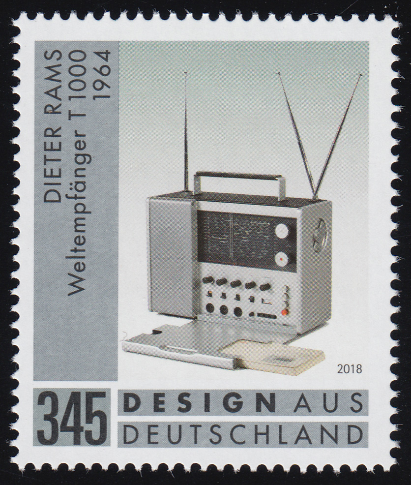 3400 Design aus Deutschland: Dieter Rams-Weltempfänger / Radio , ** 0