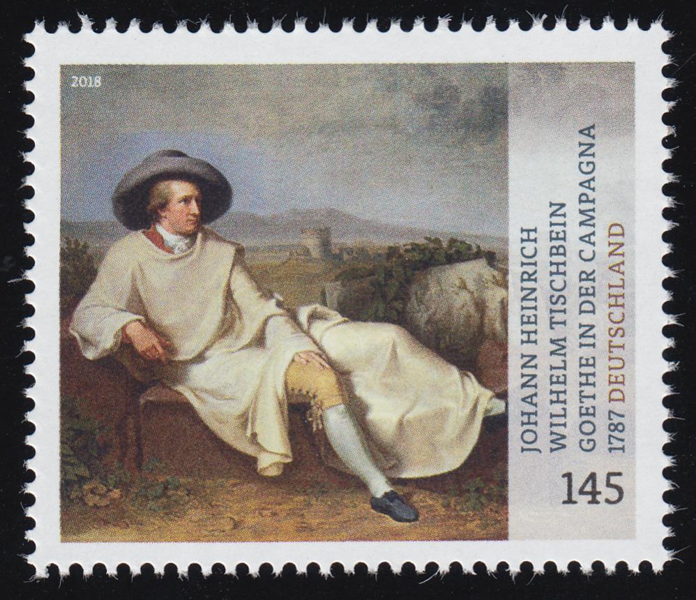 3393 Gemälde Goethe in der Campagna, nassklebend, ** 0