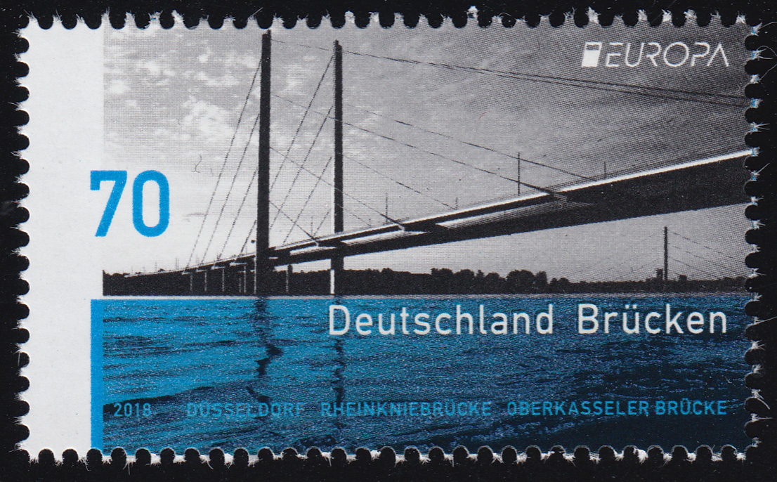 3383 EUROPA - Brücken: Rheinkniebrücke von Düsseldorf, ** 0