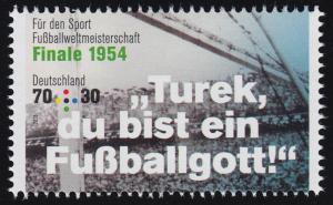 3380 Fußballweltmeisterschaft 70 Cent WM-Finale 1954, **