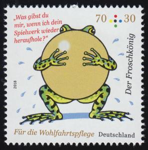 3357 Wofa Grimms Märchen - Der Froschkönig 70 Cent, nassklebend, **