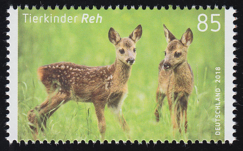 3352 Tierkinder Reh (Rehkitz), nassklebend, ** 0