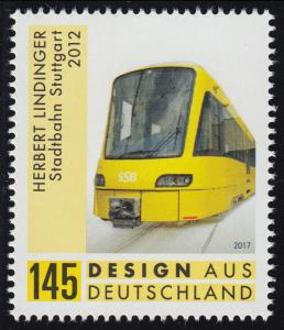3349 Design aus Deutschland Stadtbahn Stuttgart, nassklebend, **