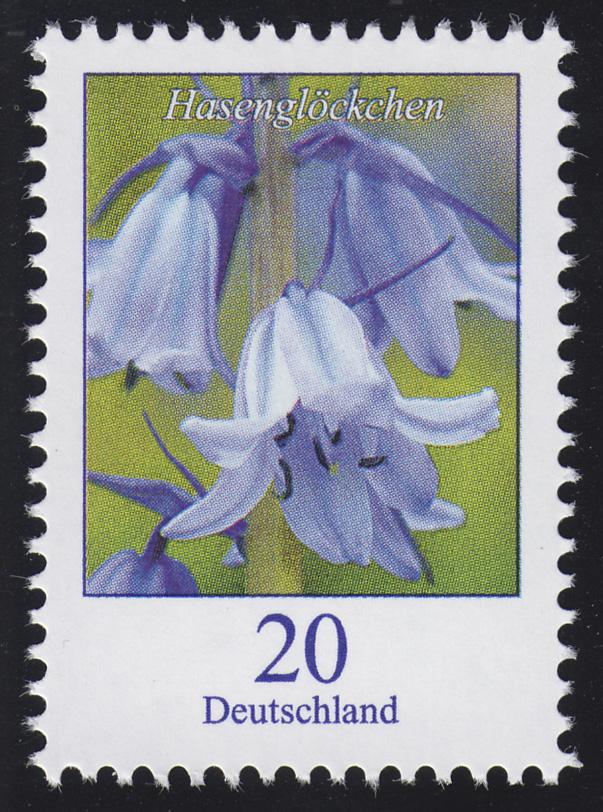 3315 Blume Hasenglöckchen 20 Cent, nassklebend, ** 0