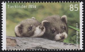 3288 Tierkinder - Iltis, nassklebend, **