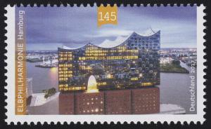 3278 Eröffnung der Elbphilharmonie in Hamburg, nassklebend **