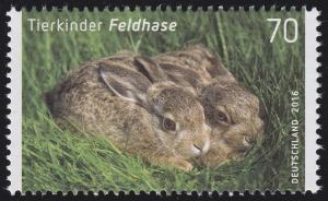 3217 Tierkinder: Feldhase, nassklebend, **